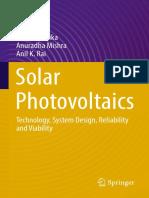 N.D. Kaushika,Anuradha Mishra,Anil K. Rai (Auth.) - Solar Photovoltaics_ Technology, System Design, Reliability and Viability (2018, Springer International Publishing)