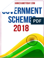 Govt Schemes 2018