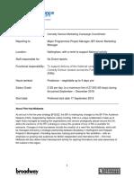 Campaign Coordinator - Job Description
