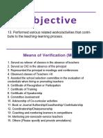 Kra Objectives