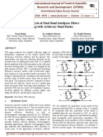 An Analysis of Dual Band bandpass Filters using with Arbitrary Band Ratios
