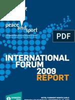 Peace Sport Report Guide Forum2009