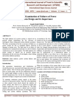 Critical Examination of Failures of Power System Design and It's Importance