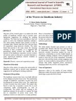 Work Profile of the Weavers in Handloom Industry