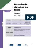 Articulação Sintática Do Texto Aluno 3ª Série