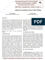 A Study of Fusing Subjectivity and Distinct Issues in Data Mining