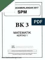 Soalan Matematik Kertas 1 Percubaan