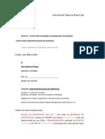 Anexo 3 - Carta de Subcontratação