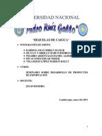 SEMINARIO SOBRE DESARROLLO DE PRODUCTOS DE EXPORTACIÓN - HOJUELAS DE CAIGUA