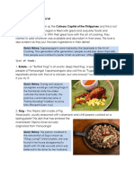 Food Section - Documentation
