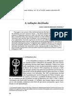 Bresser Pereira.inflação Decifrada