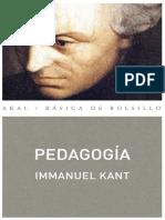 Immanuel Kant - Pedagogía