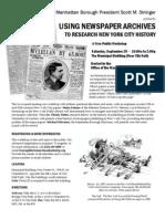 Newspaper Workshop Flier