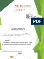 Defense Mechanisms of the Body