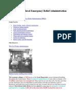 Essay--The Federal Emergency Relief Administration (FERA) 1933
