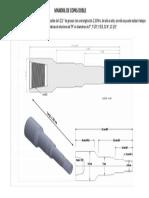 Diagrama Mandril Porta Copas Doble