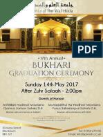 Jamiatul Ilm Wal Huda Blackburn 17th Annual Bukhari Jalsa Poster