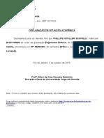 UniversusNet Protocolo Situação Acadêmica Phillipe 2015-2