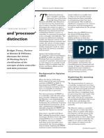 Treacy Controller-processor Distinctions