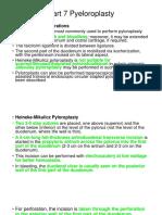 Part 7 Pyeloroplasty