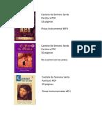 Cantatas y Partituras Cristianas Listado de Material