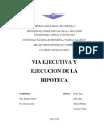 Vía Ejecutiva y Ejecución de la Hipoteca