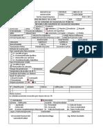 Ficha de Inspeccion - Liquidos Penetrantes