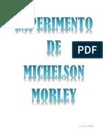 Experimento de Michelson Morley