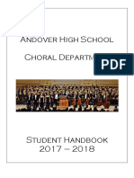 Choir Handbook Example