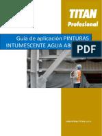 Manual de aplicación PINTURAS INTUMESCENTES AGUA A80 y A85 versión actual