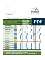 Programación de evaluaciones del tronco común 2018-2