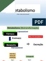 Farmacologia metabolismo