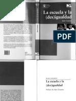Casassus Juan La Escuela y La Des Igualdad