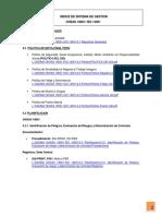 Indice de Sistema de Gestion de Seguridad, Salud Ocupacional y Medio Ambiente