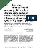 Etnohistoria Andina Siglos XVII_XVIII
