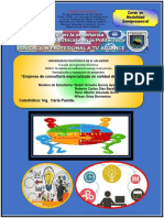 Avance Final Primer Registro Formulacion y Evaluacion de Proyectos