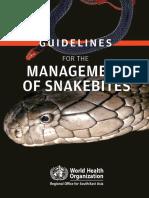 Snake Bite WHO2016