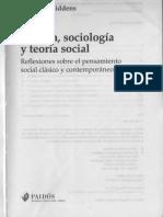 Giddens - Política Sociologia y Teoria Social