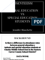 final absenteeism and special education vs general education blanchette  2