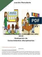 TEMARIO FINAL Educacion Parvularia