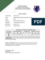 05. Honey Report of Analysis