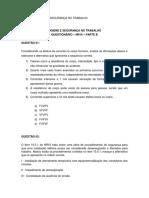 Questionário - Nr10 - PARTEB