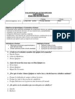 Evaluacion Adecuada 5tob Erase Una Vez Don Quijote