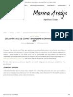 Guia Prático de Como Trabalhar Com Materiais No v-ray - Marina Araújo