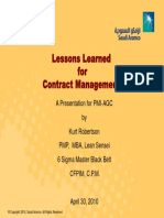 Managing Contracts in a Project Environment 03-30-2010 1