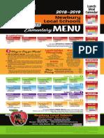2018-2019 elementary menu