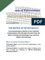 THE MATRIX OF PETROVSKAYA