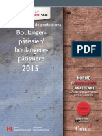 Analyse Nationale de Professions Boulanger pâtissier