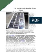 DIY Solar Panel 60 Watt - Tutorial