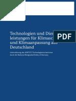 Technologien Dienstleistungen Fuer Klimaschutz Klimaanpassung Aus Deutschland